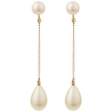 Buy Susan Caplan Vintage 1960s Trifari Gold Plated Faux Pearl Clip-On Drop Earrings, Gold/Pearl Online at johnlewis.com