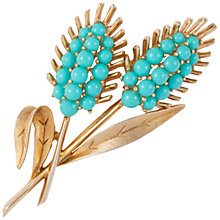 Buy Susan Caplan 1960s Vintage Trifari Brooch, Blue Topaz Online at johnlewis.com