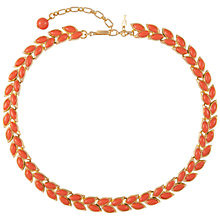 Buy Susan Caplan Vintage 1960s Trifari Gold Plated Necklace, Coral Online at johnlewis.com