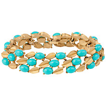 Buy Susan Caplan Vintage 1960s Trifari Gold Plated Faux Turquoise Bracelet, Turquoise/Gold Online at johnlewis.com