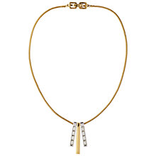 Buy Susan Caplan Vintage 1970s Givenchy Drop Necklace, Gold/Silver Online at johnlewis.com