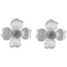 Buy Susan Caplan Vintage 1960s Trifari Silver Plated Posy Clip-On Earrings, Silver Online at johnlewis.com