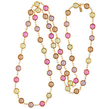 Buy Susan Caplan Vintage 1970s Swarovski Crystal Necklace, Pink/Gold Online at johnlewis.com