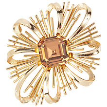 Buy Susan Caplan Vintage 1960s Trifari Swarovski Crystal Brooch, Gold Online at johnlewis.com