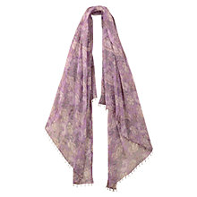 Buy East Anokhi Isabella Scarf, Lavender Online at johnlewis.com