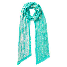 Buy East Sequin Scarf, Lagoon Online at johnlewis.com