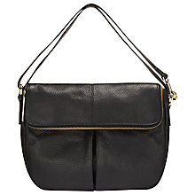 Buy Whistles Duffy Zip Satchel Bag, Black Online at johnlewis.com