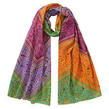 Buy East Lila Print Scarf, Multi Online at johnlewis.com