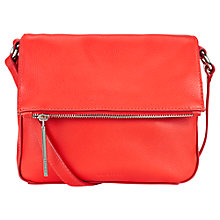 Buy Whistles Mini Lexham Leather Satchel Bag, Red Online at johnlewis.com