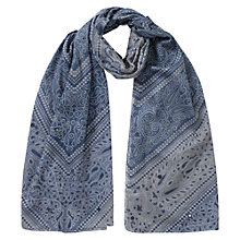 Buy East Lila Print Scarf, Indigo Online at johnlewis.com