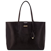 Buy Whistles Fleet Large Lizard Tote, Black Online at johnlewis.com