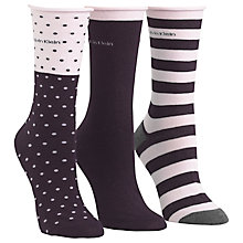 Buy Calvin Klein Dot and Stripe Ankle Socks, Pack of 3 Online at johnlewis.com