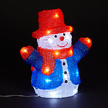 Buy John Lewis Acrylic Snowman Christmas Light Online at johnlewis.com