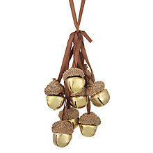 Buy John Lewis Midwinter Metal Acorn Bells Tree Hanger Online at johnlewis.com
