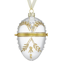 Buy John Lewis Enchantment Glass Locket, Clear and Gold Online at johnlewis.com