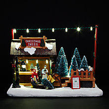 Buy Tabletop Christmas Tree Stall Display With Music Online at johnlewis.com