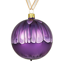 Buy John Lewis Midwinter Glass Drip Bauble, Fig Online at johnlewis.com
