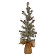 Buy John Lewis Snowdrift Flittered Pine Cone Mini Christmas Tree, 50cm Online at johnlewis.com
