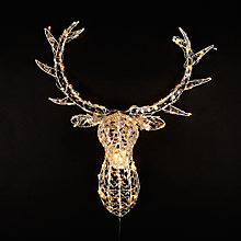 Buy John Lewis Crystal Deer Head 140LED Christmas Light, Warm White Online at johnlewis.com