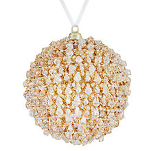 Buy John Lewis Boutique Plastic Glitter Diamond Ball, Gold Online at johnlewis.com