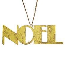 Buy John Lewis Boutique Iron Noel Sign, Gold Online at johnlewis.com