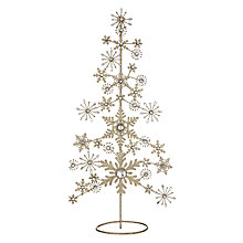 Buy John Lewis Enchantment Gold Glitter Snowflake Table Tree Online at johnlewis.com