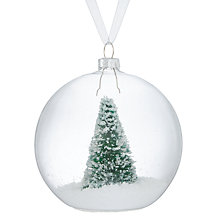 Buy John Lewis Different Perspective Green Tree In Glass Bauble Online at johnlewis.com