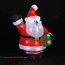 Buy John Lewis Acrylic Santa Christmas Light Online at johnlewis.com