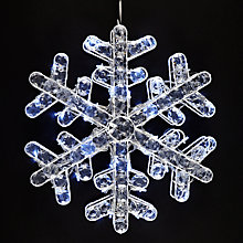 Buy John Lewis Crystal Snowflake Static 72 LED Christmas Light Online at johnlewis.com