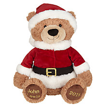 Buy John Lewis Santa Teddy Bear, Medium Online at johnlewis.com