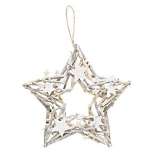 Buy John Lewis Snowdrift Flittered Whitewashed Star Wreath Online at johnlewis.com