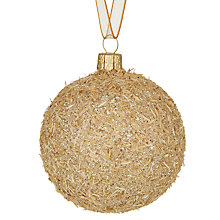 Buy John Lewis Midwinter Glass Flitter & Sawdust Bauble Online at johnlewis.com