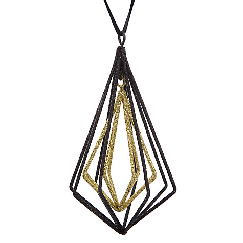 Buy John Lewis Boutique Iron Gem Geo Drop, Gold and Black Online at johnlewis.com