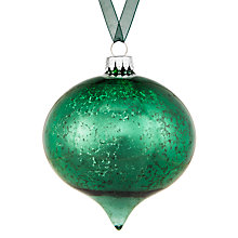 Buy John Lewis Midwinter Glass Mercurised Onion Bauble, Green Online at johnlewis.com
