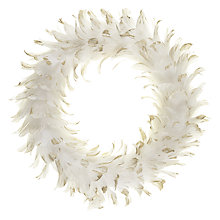 Buy John Lewis Enchantment Feather Wreath, 42cm Online at johnlewis.com