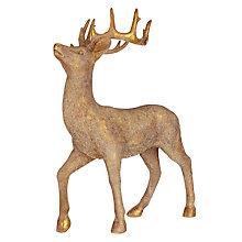 Buy John Lewis Midwinter Golden Tabletop Stag Decoration, 50cm Online at johnlewis.com