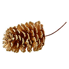 Buy John Lewis Pine Cone Pick, Gold Online at johnlewis.com