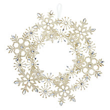Buy John Lewis Enchantment Gold Glitter Snowflake Wreath Online at johnlewis.com