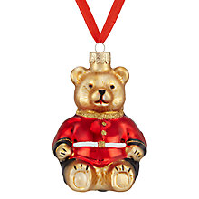 Buy John Lewis Glass Guardsman Bear Bauble, Multi Online at johnlewis.com