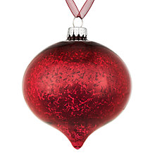 Buy John Lewis Midwinter Glass Mercurised Onion Bauble, Magenta Online at johnlewis.com