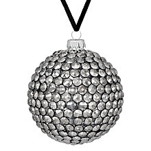 Buy John Lewis Boutique Gem Bauble, Pewter Online at johnlewis.com