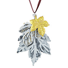 Buy John Lewis Midwinter Metal Hanging Leaf, Gold and Silver Online at johnlewis.com