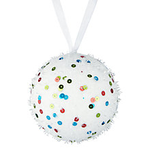 Buy John Lewis Fabric Snow Bauble, Multi Online at johnlewis.com