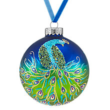 Buy John Lewis Boutique Single Peacock Bauble, Large Online at johnlewis.com
