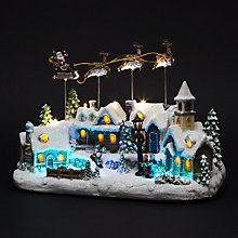 Buy Over The Rooftops Santa Scene Tabletop Decoration Online at johnlewis.com