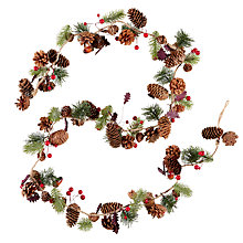 Buy John Lewis Midwinter Pinecone, Berry and Acorn Garland Online at johnlewis.com
