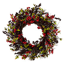 Buy John Lewis Midwinter Red Berry & Blackberry Wreath Online at johnlewis.com