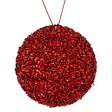 Buy John Lewis Different Perspective Plastic Glamour Bauble, Red Online at johnlewis.com