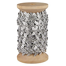 Buy John Lewis Silver Leaves Ribbon, 5m Online at johnlewis.com