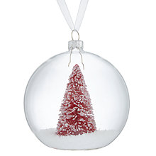 Buy John Lewis Different Perspective Red Tree In Glass Bauble Online at johnlewis.com